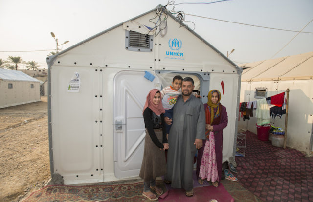 Iraq. Families living in Refugee Housing Units in Al Jamea'a camp